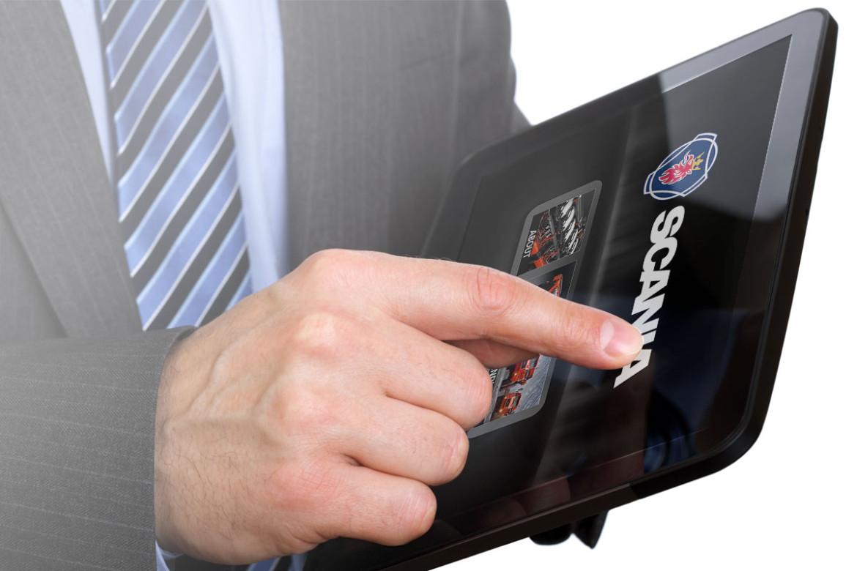 Scania app, trade show app, manufacturing app