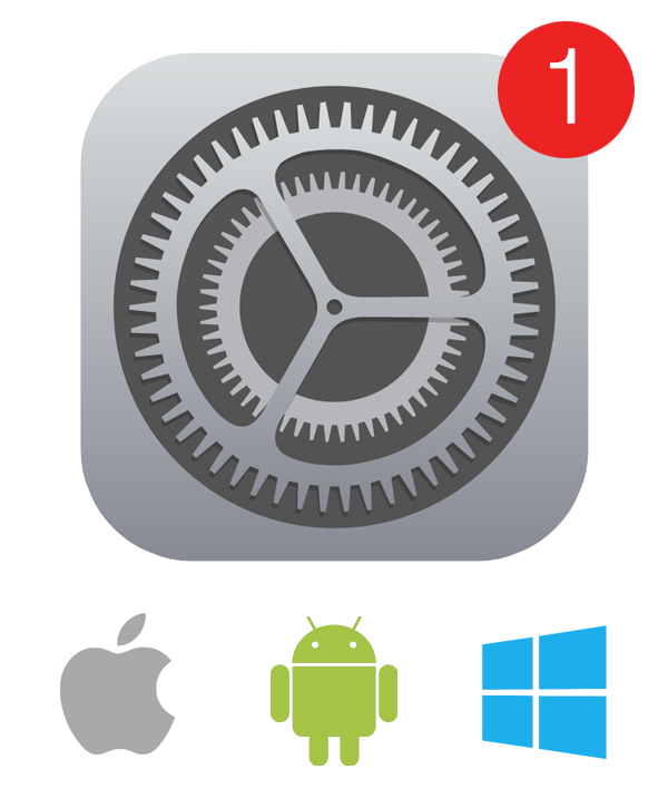 Platform update image for Apple Windows and Android on Command.App