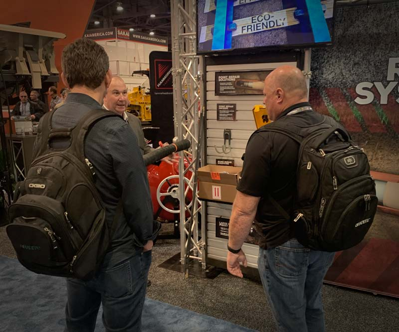 Trade Show Interaction in Booth
