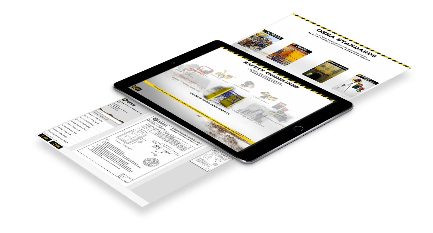 Tablet National Trench Safety Command App